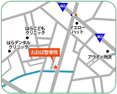 所沢市小手指町 おおば整骨院・整体院の地図